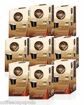 900 NESPRESSO empty fillable capsules - Recyclable