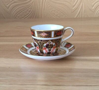 Royal Crown Derby Imari 1128 Miniature Cup And Saucer LIII 1990 First Quality