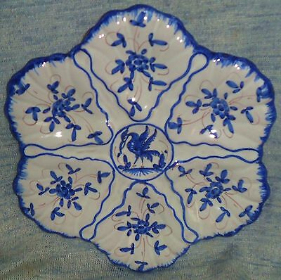Beautiful  Antique Oyster  Majolica  Plate