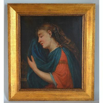Beautiful Antique Religious Oil Painting Mary Magdalene, 18th / 19th century