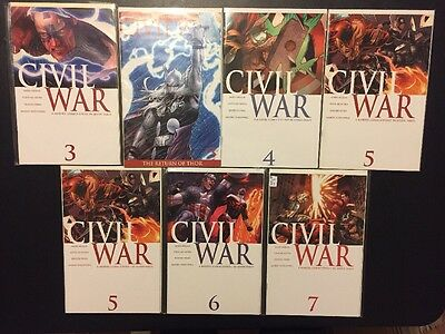 CIVIL WAR #3 4 5 6 7 - 7 Comic Lot, Variant, VF/NM, Marvel, 2006