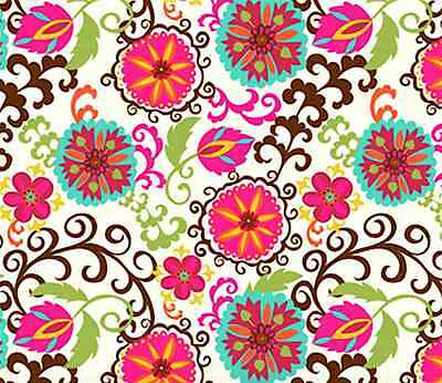 Happy Flower Gift Wrap Tissue Paper- Printed- 10 Patterned Sheets