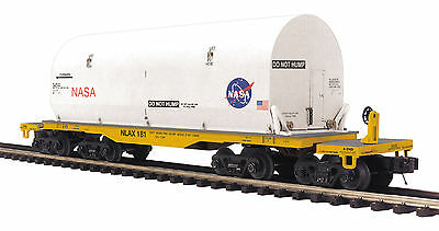 MTH 20-95187 O NASA Premier 47' TTX Heavy Duty Flat Car with Covered Load