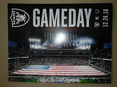 OAKLAND RAIDERS vs Indianapolis Colts Game Day Program 12/24/16