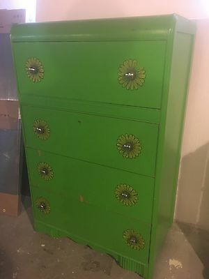 Chest Of Drawers Antique Vintage Painted Dresser Chest