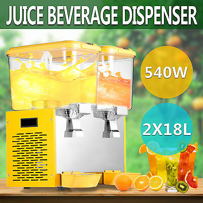 9.5 Gallon Juice Beverage Dispenser Cold Drink Refrigerated Commercial Great