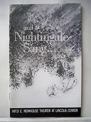 AND A NIGHTINGALE SANG Playbill JOAN ALLEN / PETER FRIEDMAN NYC 1983