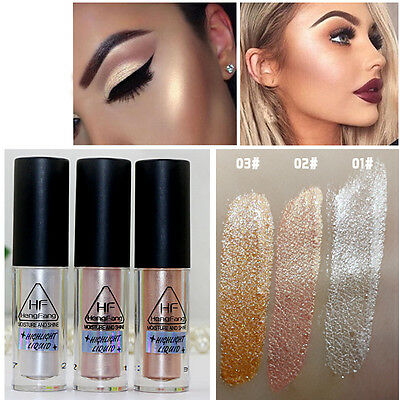 3 Couleurs Natural Makeup Face Eye Liquide Highlighter Shimmer Cosmetics Neuf
