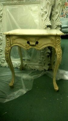 Cream vintage french-style side table