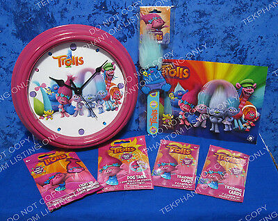 Dreamworks Trolls Clock Custom Promo Lot Slapband Trading Cards Fahion Dog Tag