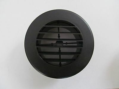 "4"" BLACK Round Rotaire Grille Heat Covered Screws Outlet Vent 3940BK RV Trailer"