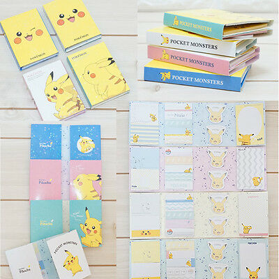 Pokemon Sticky Note Pikachu Sticker Office Post It Cute Memo Index Bookmark