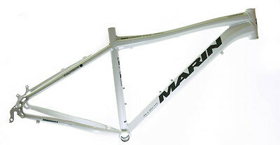 """17"""" Marin 26"""" Indian Fire Trail Alloy Hardtail MTB Bike Frame Disc White NOS NEW"""