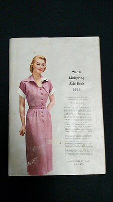 1953 WARDS Midspring catalog sales book vintage dresses