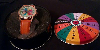 Vintage 1999 Wheel Of Fortune Game Show Collectible Watch in Original Tin
