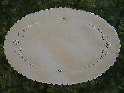 Antique Vtg LInen Placemats~8 Pieces~Hand Embroidery-Butterflies-Flowers