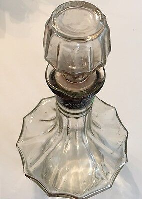 Jack Daniels Vntg Whiskey Glass Decanter 12 Sided Scallop Shaped Eliptical Mouth