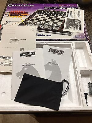 Excalibur  Stiletto II Electronic Chess Game 72 Levels Teach Mode NICE! Complete