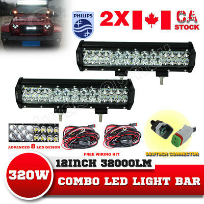 12INCH 320W CREE Led Light Bar Flood Spot Combo Driving Offroad 4x4WD vs20'' 22'