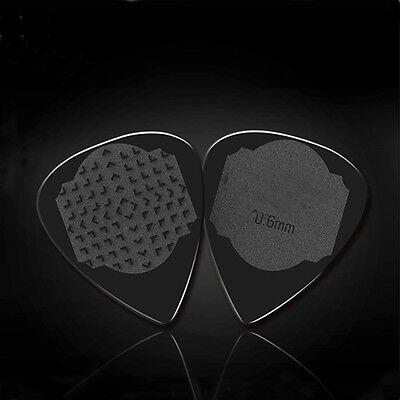 Medium 0.6mm Acoustic Electric Blank Guitar Picks Plectrums Solid Black
