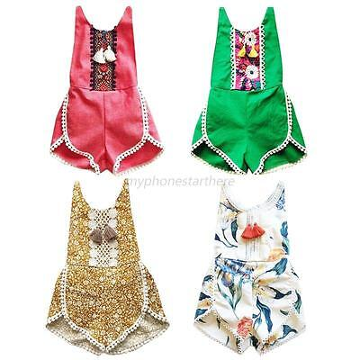 Infant Baby Girls Floral Rompers Jumpsuit Toddler Kid Boutique Bodysuit Clothes