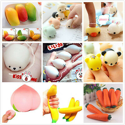 Cute Relief Stretch Animal Fruit Squeeze Scented Wreak Toy Press Doll Squishy