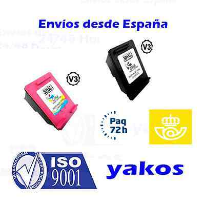 Pack De 2 Tintas Hp 301 Xl V.3 Negro Y Tricolor Remanufacturado 18Ml