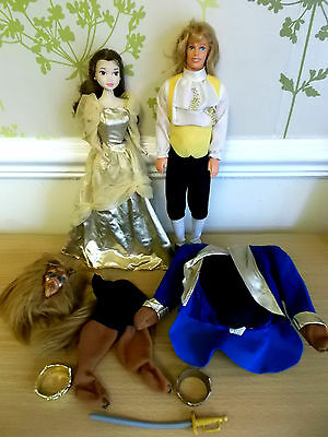 Disney Beauty and the Beast Dolls Prince Adam & Belle by Mattel (1992)
