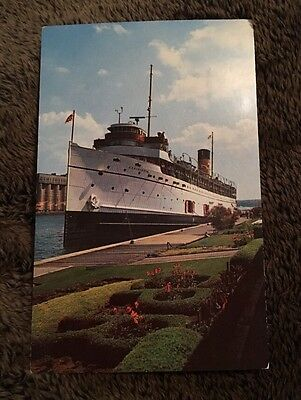Vintage Postcard Unposted Ship Boat SS Assiniboia Or Keewatin Great Lakes