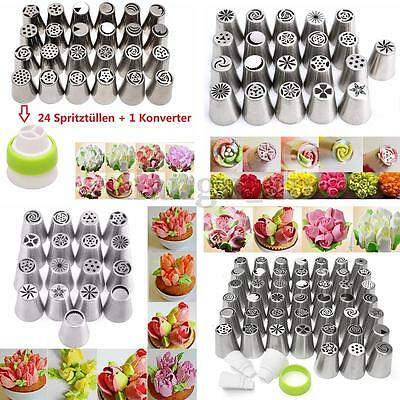 17-45x Russian Icing Piping Nozzles Cake Decorating Cupcake Tips Pastry Tool Set