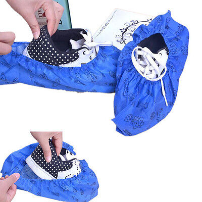1 Pair Unisex Washable Thicken Shoe Covers Non-Skid Breathable Non-woven Home