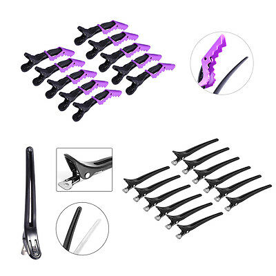 10/12 PCS Duck Hair Section Clips Hairdressing Alligator Clamps Claw Hairpins EB