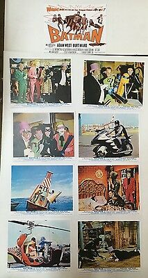 Batman Rare 1St Movie Lobby Card Set Of 9, Reproduction Prints
