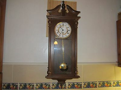 Vintage Hermle Westminster Chiming Wall Clock In V.g.w.o.