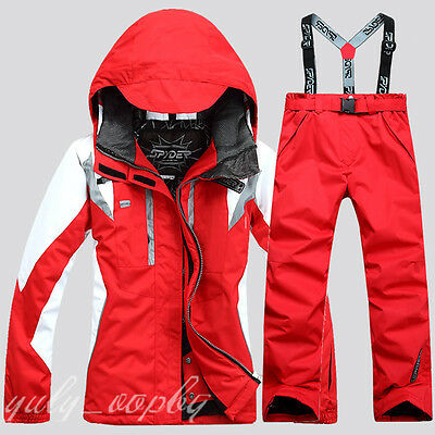 Womens Winter Ski Suits Warm Jacket Pants Waterproof Coat Lady Snowboard 2017
