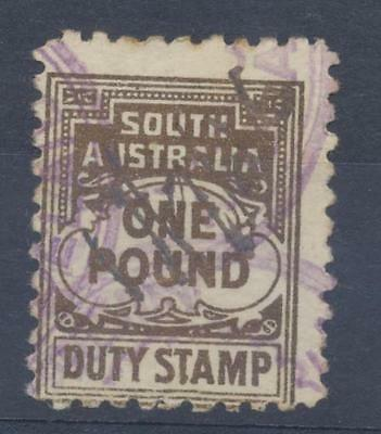 SOUTH AUSTRALIA £1 Duty Stamp used