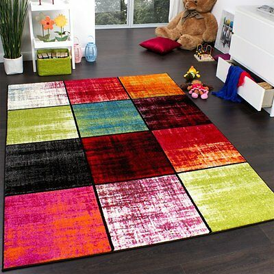 Childrens Rug Colourful New Carpet  Rugs Multi Colours Kids Bedroom Play Mats