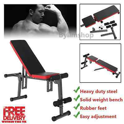 Muscle Dumbbell Barbell Weight Bench Flat Incline Decline Fitness Exercise GYM
