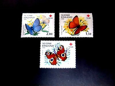 Finland 1990 Butterflies Issue Complete(3 Values)Very Fine Mint Never Hinged
