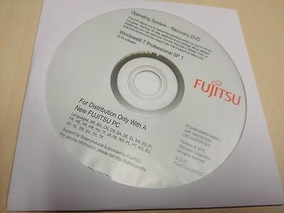 Fujitsu Windows 7 Professional Recovery DVD 64 BIT SP1 NEU OVP