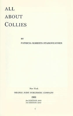 Collie Dog Book 1980 All About Collies by Patricia Starkweather RARE