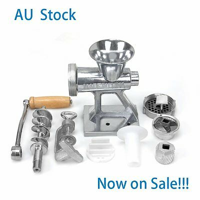Sales!!! Premium Manual Mincer Filler Burger Meat And Sausage Maker Nozzle Set