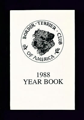 Dog Book Border Terrier Club of America 1988 Yearbook Year Book