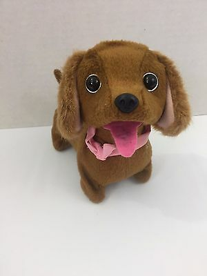 """Westminster Electronic Toy 6"""" Walking Barking Tail Wagging Puppy Dog Dachshund"""