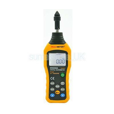 MS6208A Contact LCD Display Digital Tachometer Test Meter Tool 50~99999RPM
