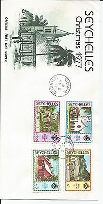 Seychelles First Day Cover Christmas 1977 Sg 420 - 423 Stamps
