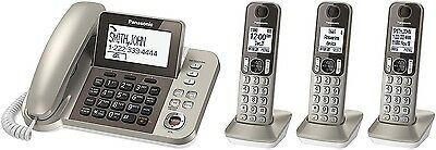 Panasonic Corded / Cordless Wireless Dect 6 3 Handset Phone Telephone Answering