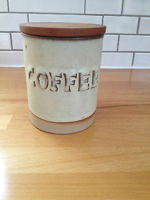 Vintage Tremar Pottery Coffee Storage Jar Studio Pottery Collectable