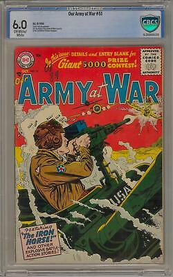 Our Army at War #51 CBCS 6.0 (OW-W) 1st Silver Age Issue