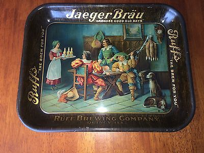 Ruff's Brewing Quincy Illinois Jaeger Brau Beer Tray